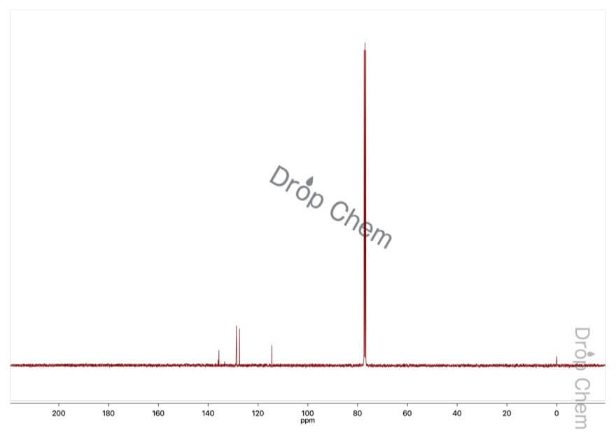 4-クロロスチレンの13CNMRスペクトル