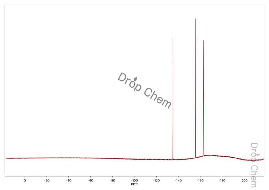 トリス(ペンタフルオロフェニル)ボランの19FNMRスペクトル