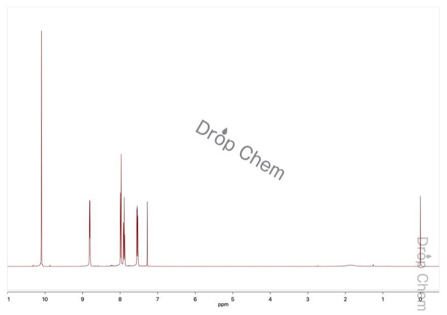 2-ピリジンカルボキシアルデヒドの1HNMRスペクトル