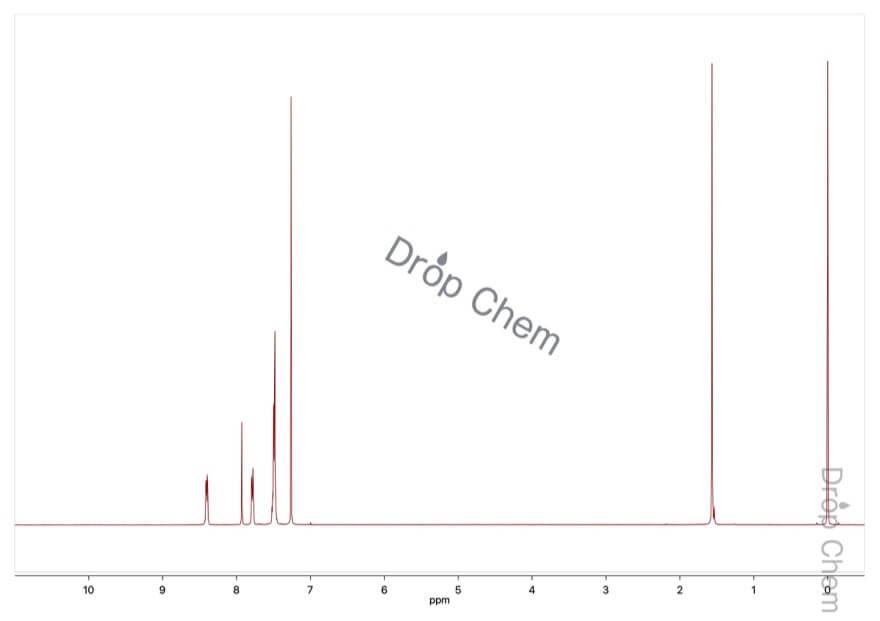 N-ベンジリデン-N-フェニルアミンオキシドの1HNMRスペクトル