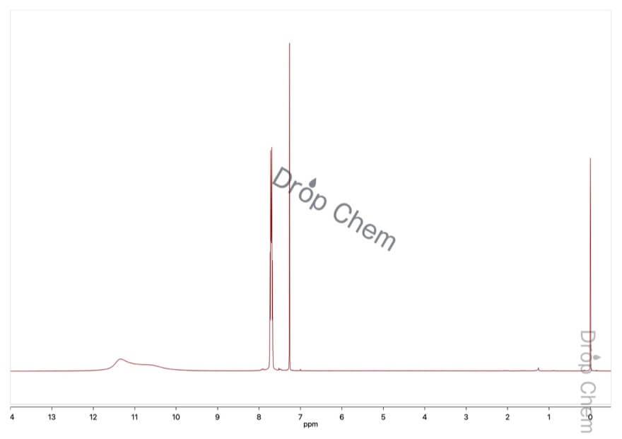 2,3,4,5-テトラフルオロ安息香酸の1HNMRスペクトル