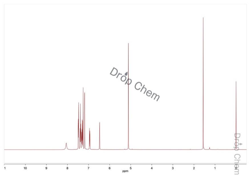 5-ベンジルオキシインドールの1HNMRスペクトル