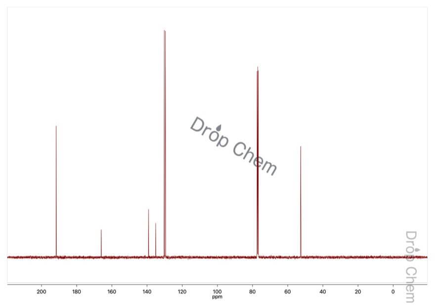 テレフタルアルデヒド酸メチルの13CNMRスペクトル