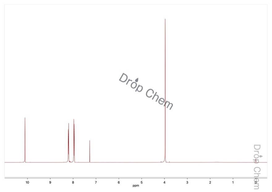 テレフタルアルデヒド酸メチルの1HNMRスペクトル