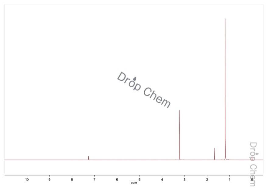 tert-ブチルメチルエーテルの1HNMRスペクトル