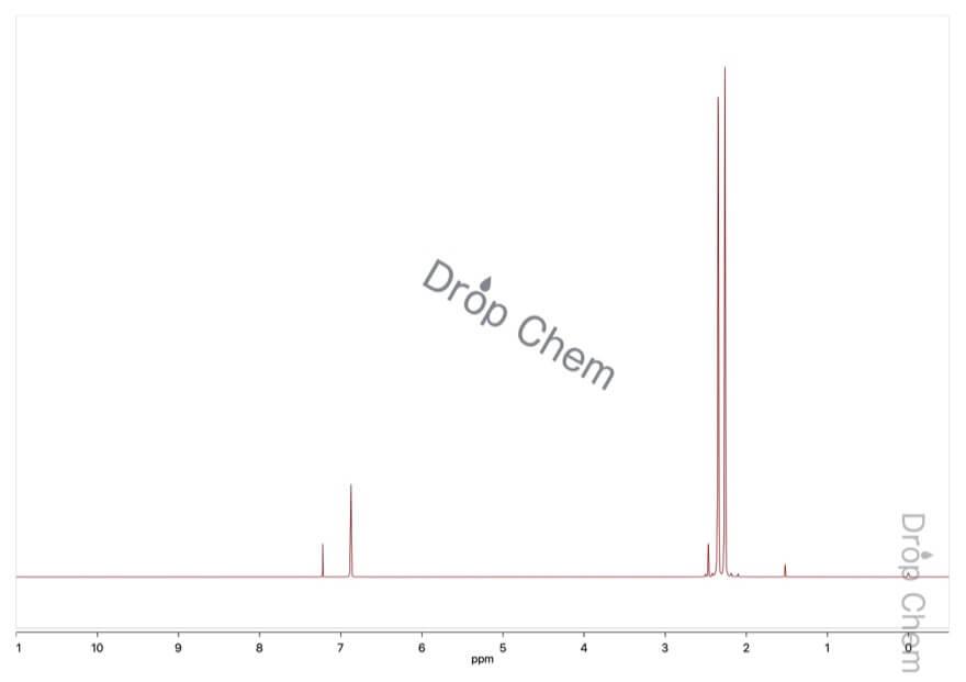 1-ブロモ-2,3,5,6-テトラメチルベンゼンの1HNMRスペクトル