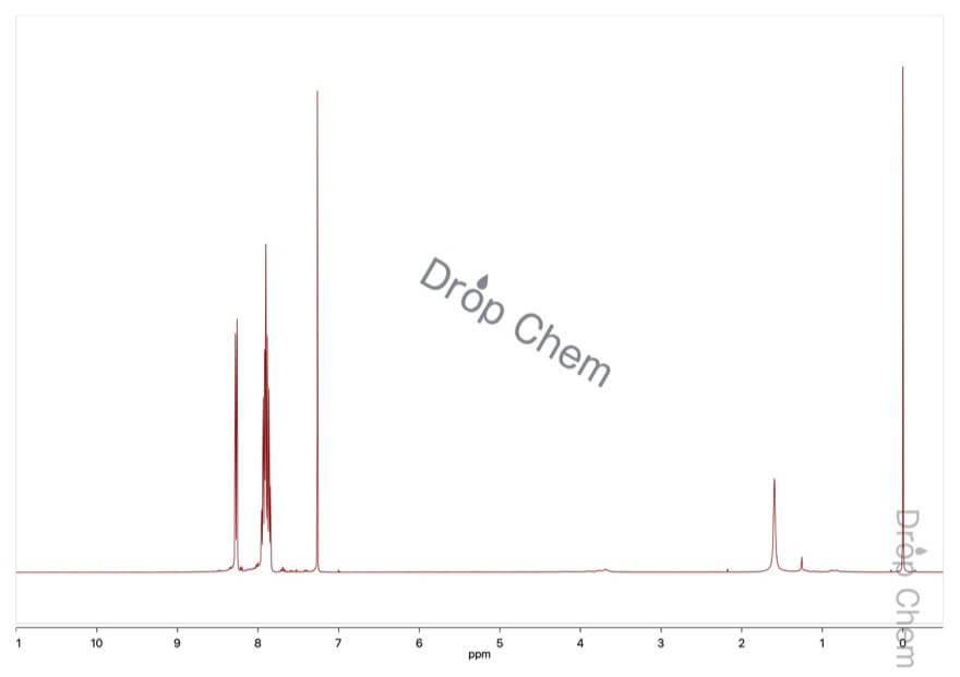 2-ニトロベンゼンスルホニルクロリドの1HNMRスペクトル