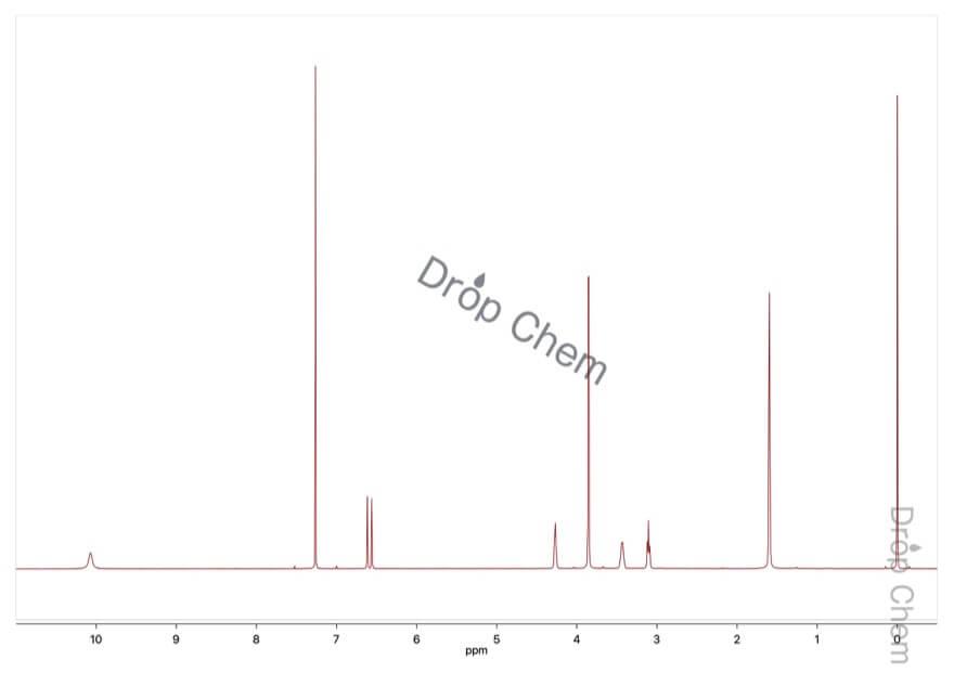 1,2,3,4-テトラヒドロ-6,7-ジメトキシイソキノリンの1HNMRスペクトル