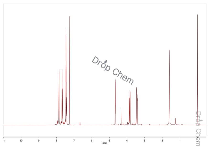 2-ブロモ-1-インダノンの1HNMRスペクトル