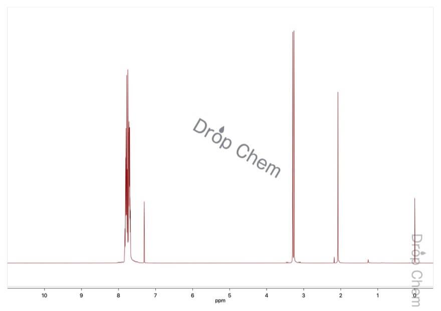 メチルトリフェニルホスホニウムブロミドの1HNMRスペクトル