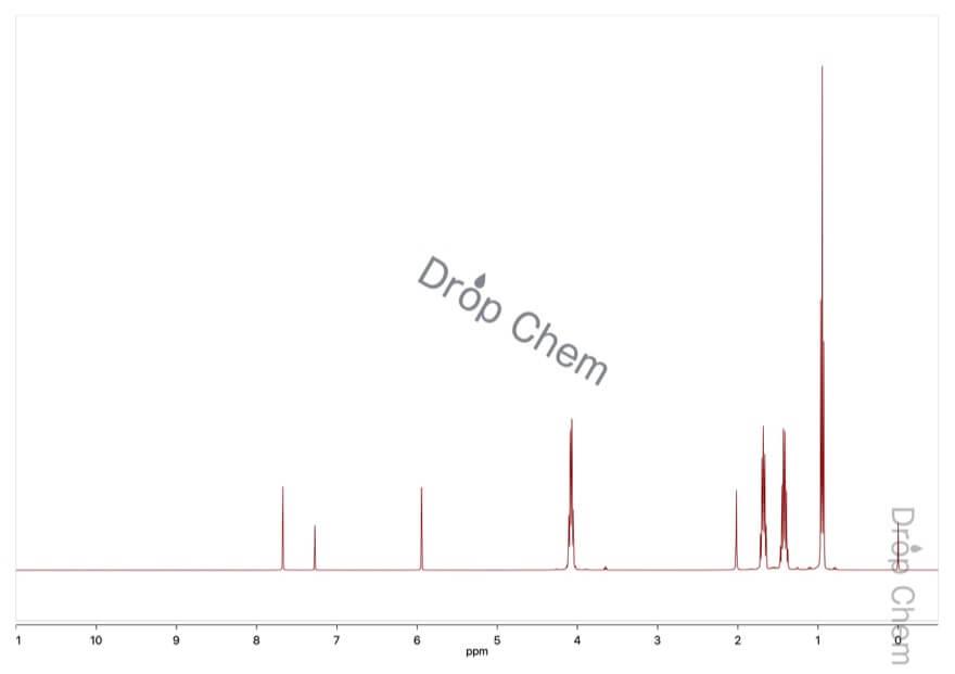 亜りん酸ジブチルの1HNMRスペクトル