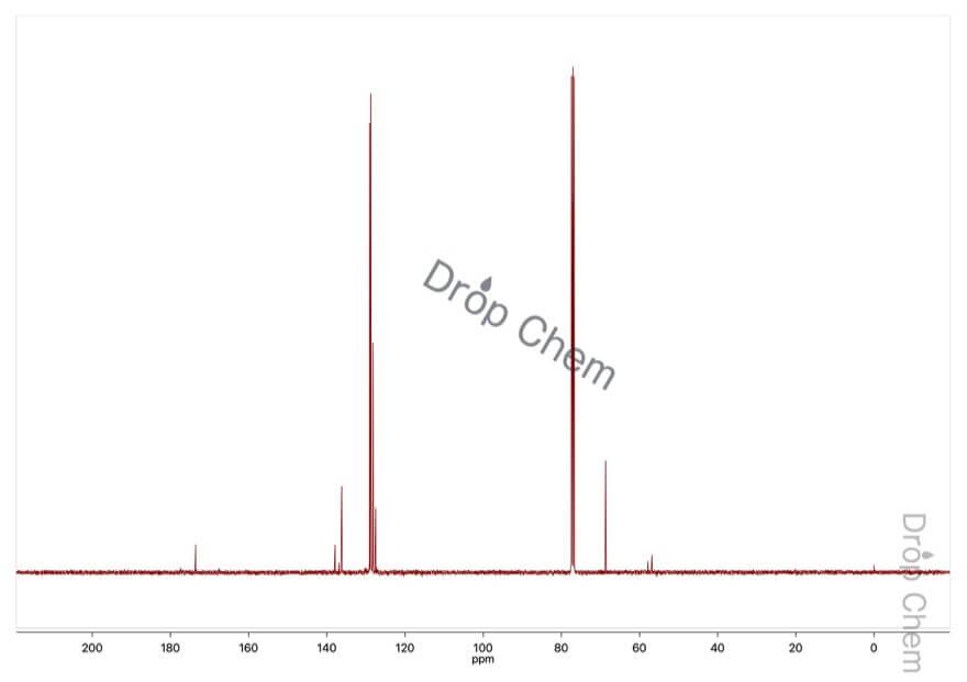 ジフェニルアセチルクロリドの13CNMRスペクトル