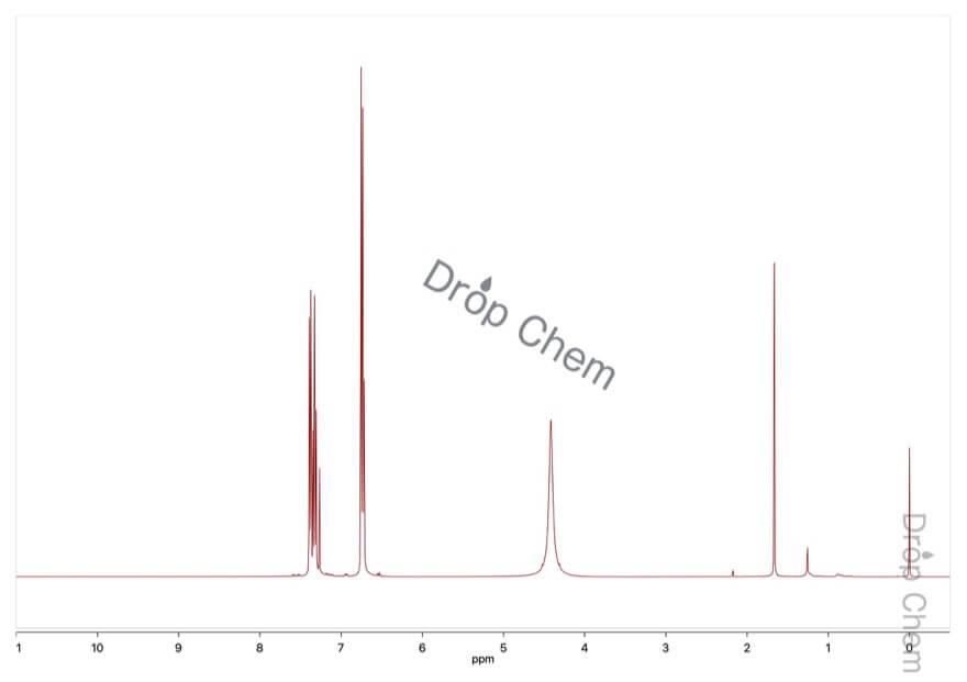 2-アミノベンゾニトリルの1HNMRスペクトル