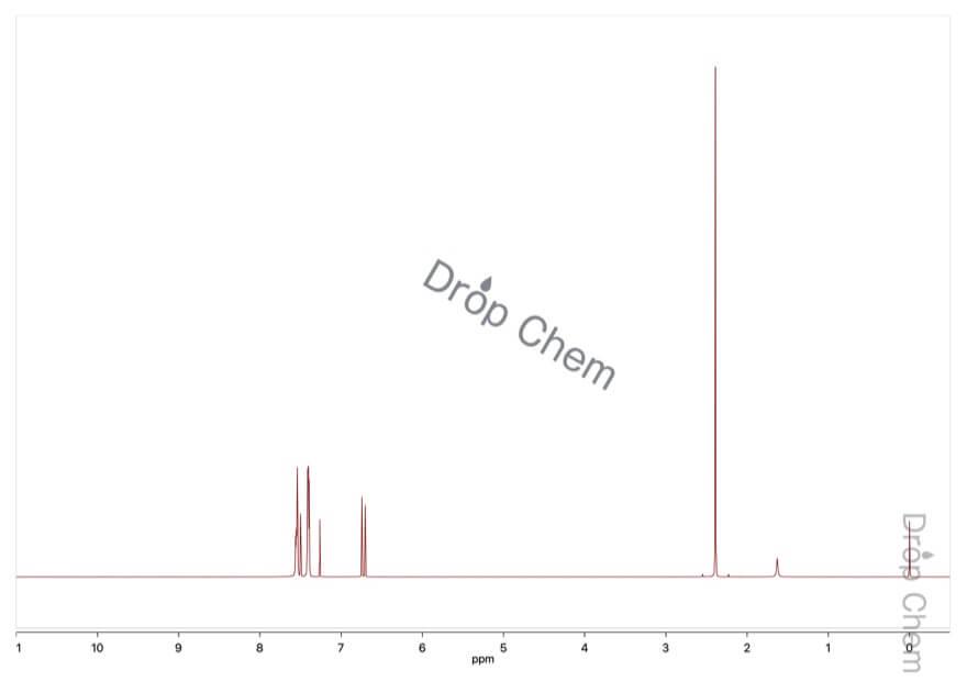 trans-ベンザルアセトンの1HNMRスペクトル