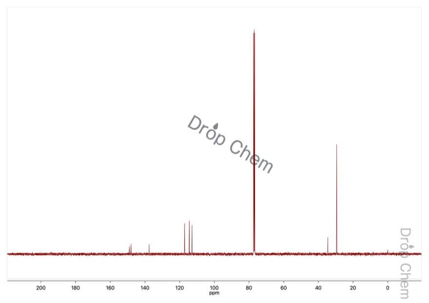 tert-ブチルヒドロキノンの13CNMRスペクトル