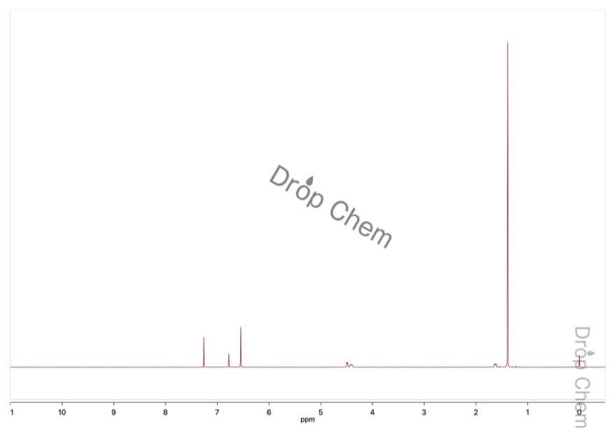 tert-ブチルヒドロキノンの1HNMRスペクトル