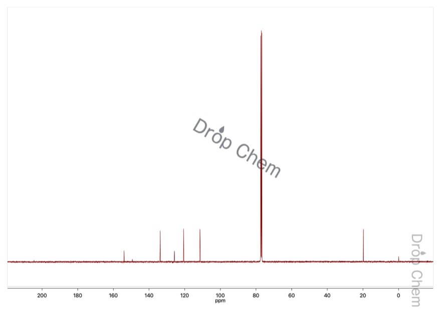 3-ニトロ-p-クレゾールの13CNMRスペクトル