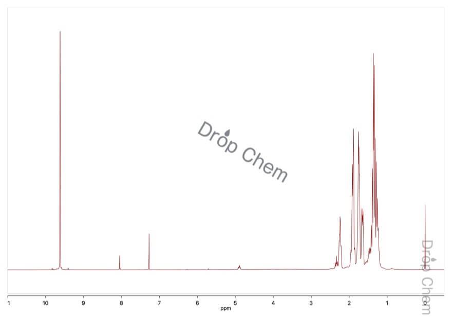 シクロヘキサンカルボキシアルデヒドの1HNMRスペクトル