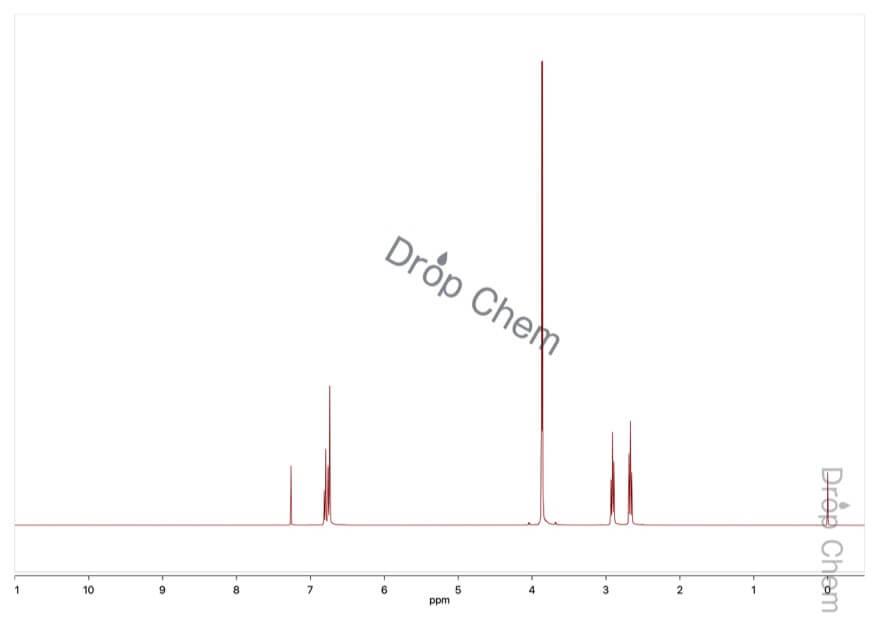 3-(3,4-ジメトキシフェニル)プロピオン酸の1HNMRスペクトル