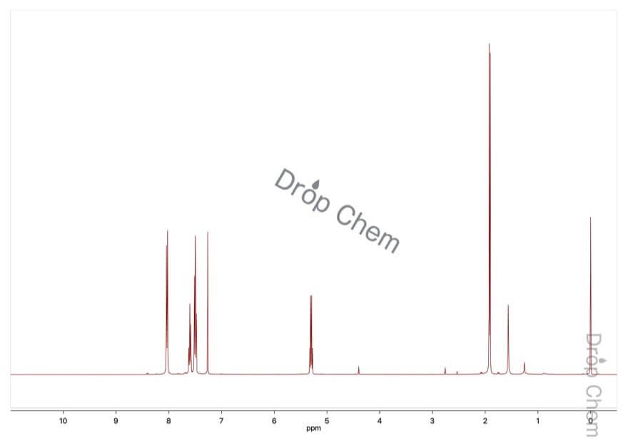 2-ブロモプロピオフェノンの1HNMRスペクトル