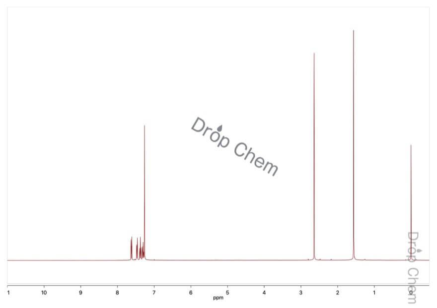 2'-ブロモアセトフェノンの1HNMRスペクトル