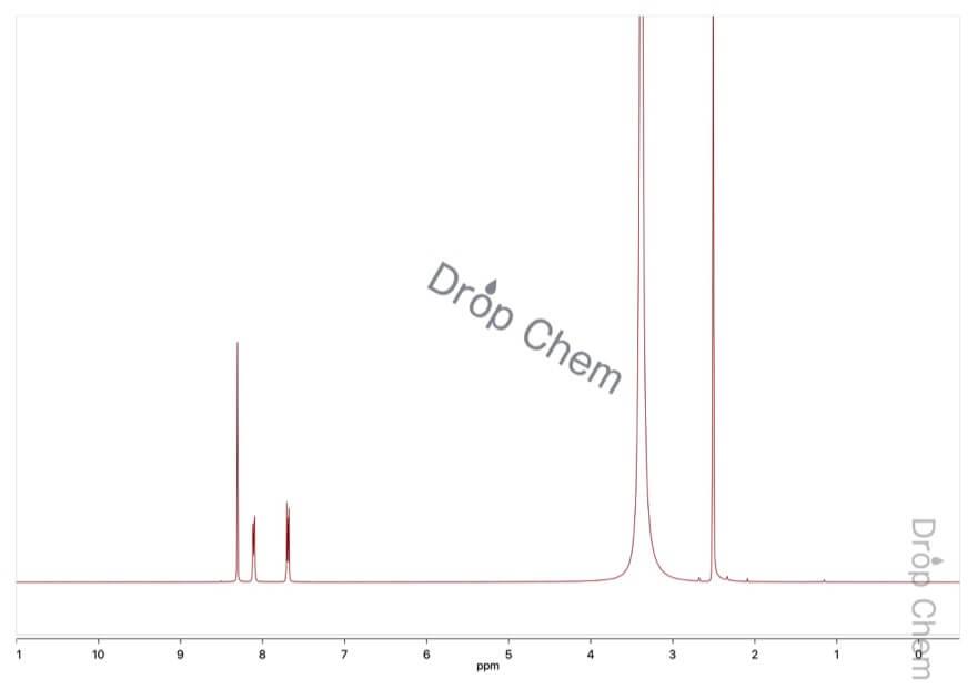 2,3-ナフタレンジカルボン酸の1HNMRスペクトル