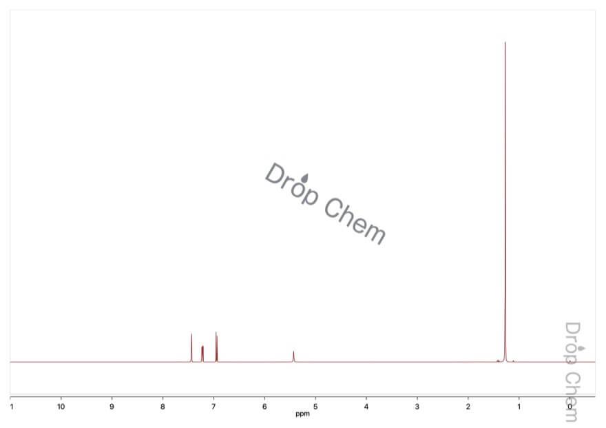 2-ブロモ-4-tert-ブチルフェノールの1HNMRスペクトル