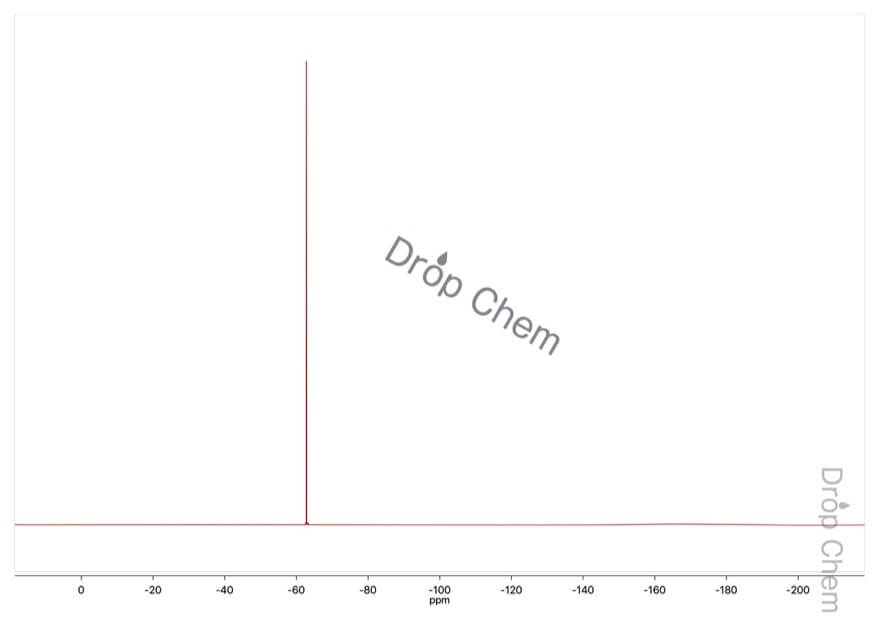 3-(トリフルオロメチル)フェニルアセトニトリルの19FNMRスペクトル