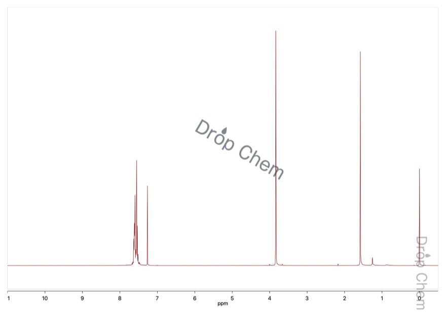 3-(トリフルオロメチル)フェニルアセトニトリルの1HNMRスペクトル