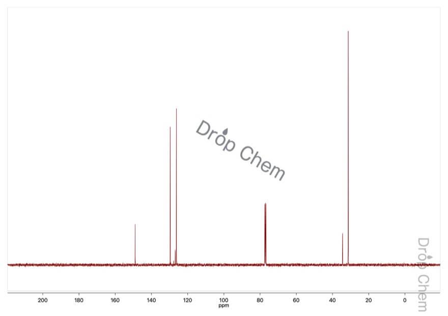 4-tert-ブチルベンゼンチオールの13CNMRスペクトル