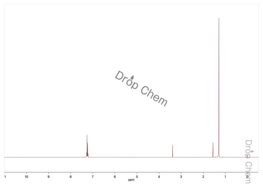 4-tert-ブチルベンゼンチオールの1HNMRスペクトル