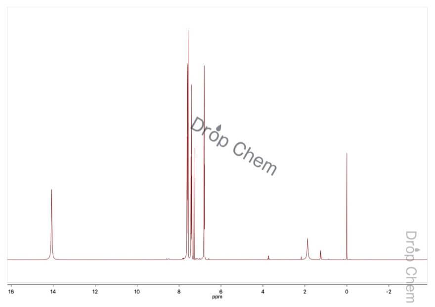 2-メルカプトピリジンの1HNMRスペクトル