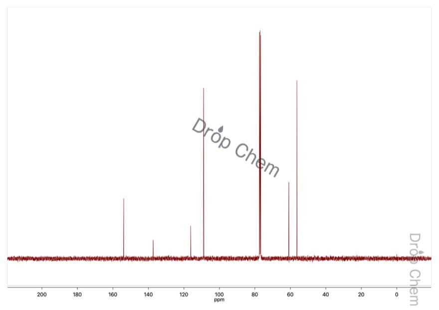 5-ブロモ-1,2,3-トリメトキシベンゼンの13CNMRスペクトル