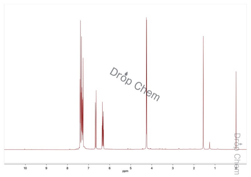 シンナミルクロリドの1HNMRスペクトル