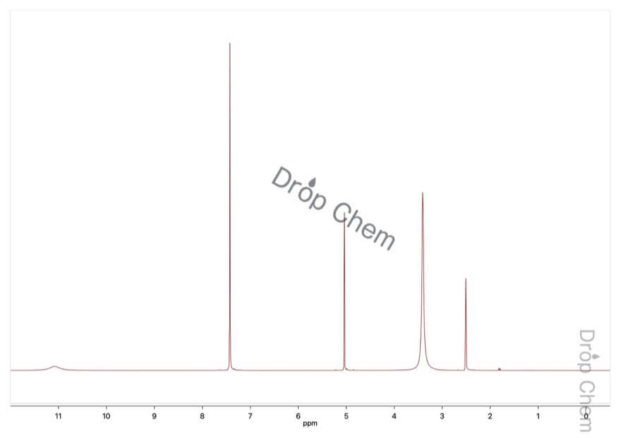 O-ベンジルヒドロキシルアミン塩酸塩の1HNMRスペクトル