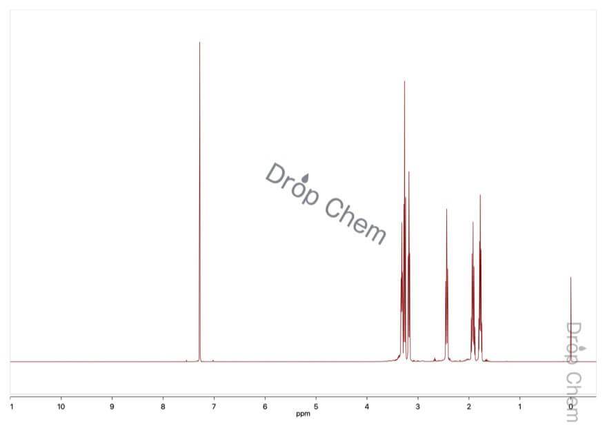 1,5-ジアザビシクロ[4.3.0]-5-ノネンの1HNMRスペクトル