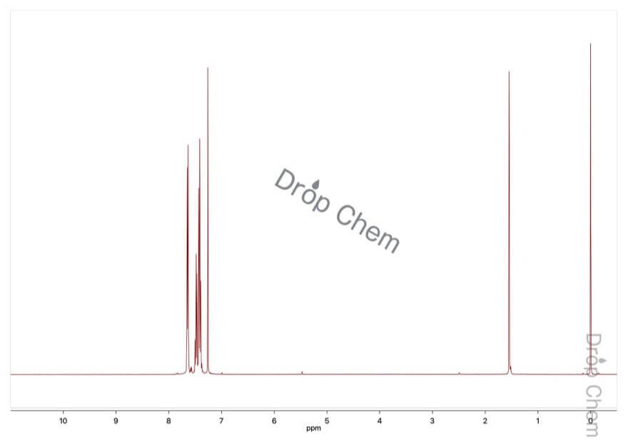 トリフェニルゲルマニウムブロミドの1HNMRスペクトル
