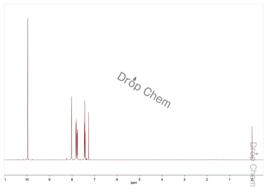 3-ブロモベンズアルデヒドの1HNMRスペクトル