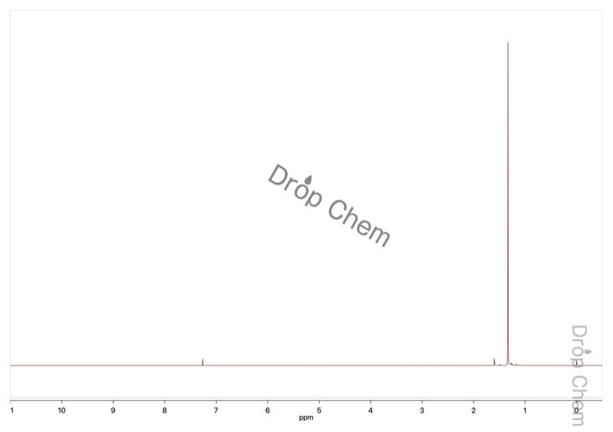 ピバロイルクロリドの1HNMRスペクトル