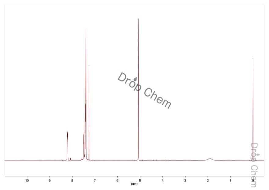 N-ベンジル-1-フェニルメタンイミンオキシドの1HNMRスペクトル