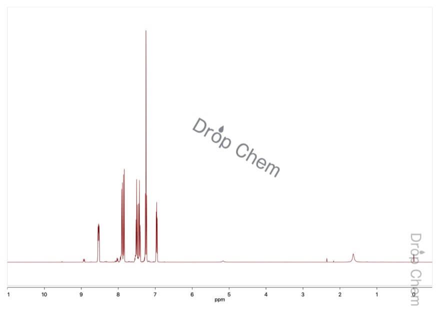 トリ(1-ナフチル)ホスフィンの1HNMRスペクトル