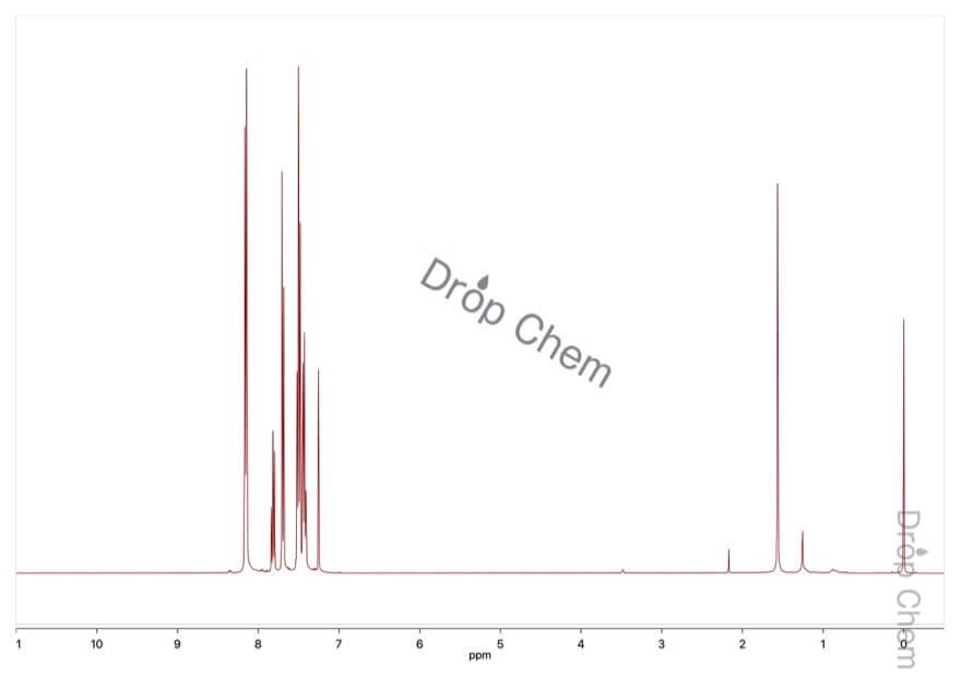 2,6-ジフェニルピリジンの1HNMRスペクトル