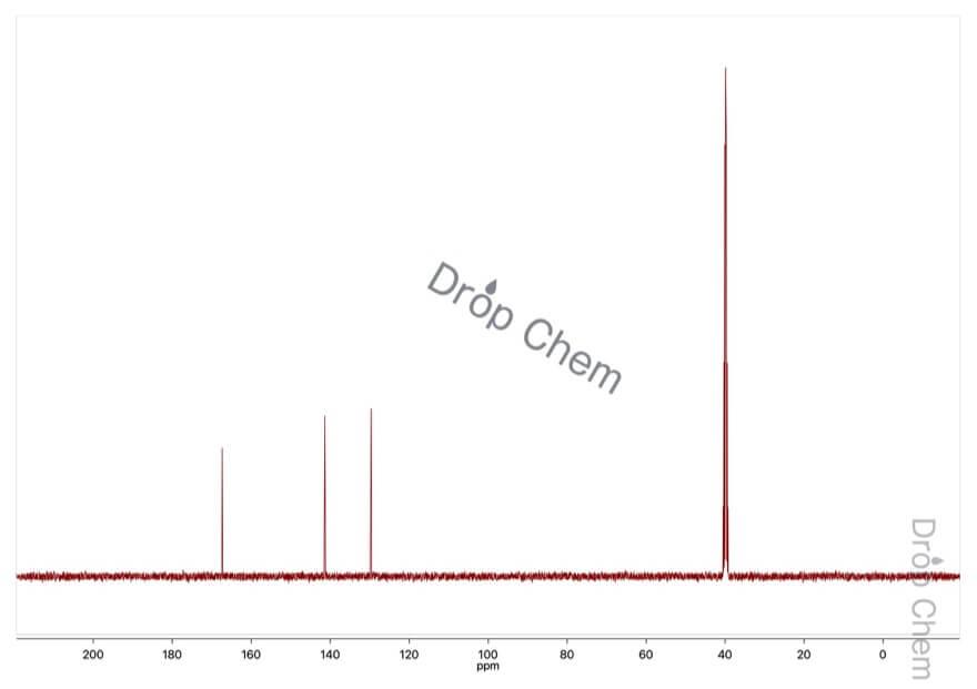 trans,trans-ムコン酸の13CNMRスペクトル