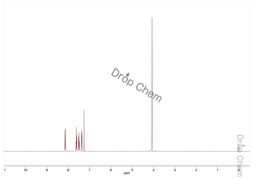 2-ニトロフェニル酢酸の1HNMRスペクトル