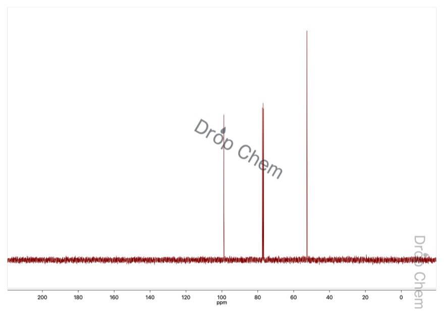 ジクロロメチルメチルエーテルの13CNMRスペクトル