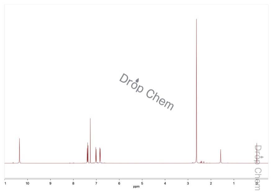 2-ニトロ-m-クレゾールの1HNMRスペクトル