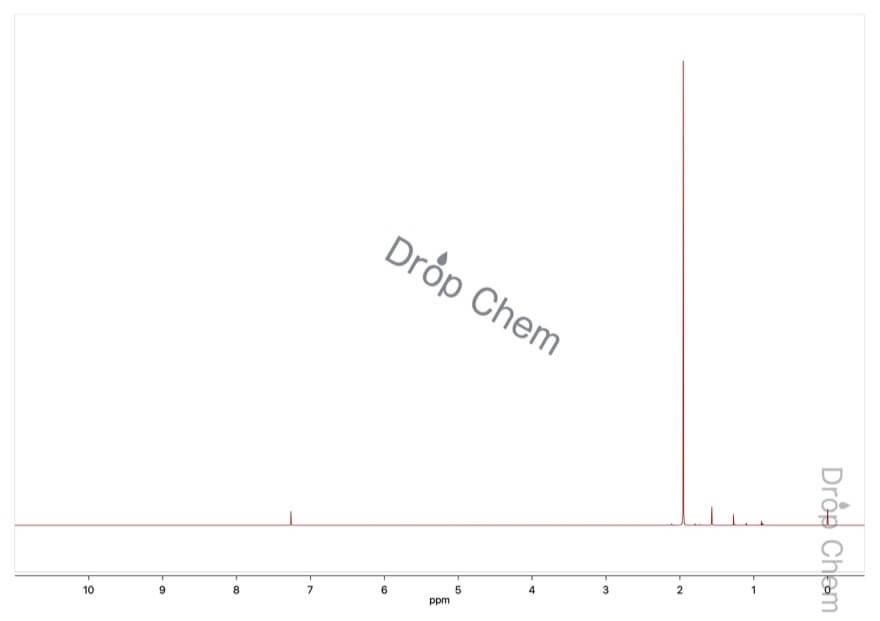 2-ヨード-2-メチルプロパンの1HNMRスペクトル