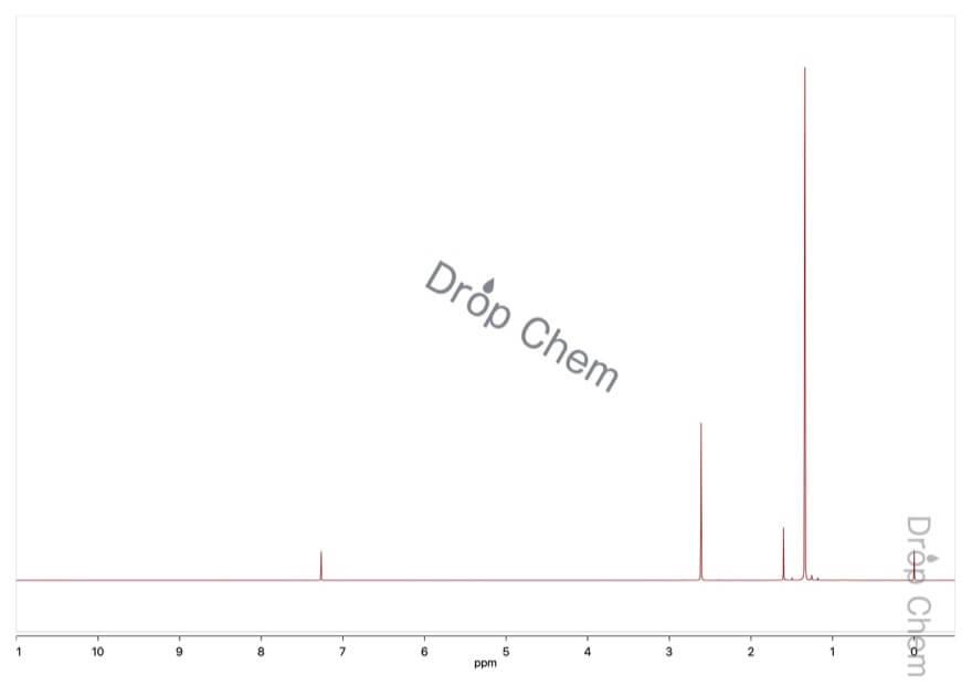 イソブチレンオキシドの1HNMRスペクトル