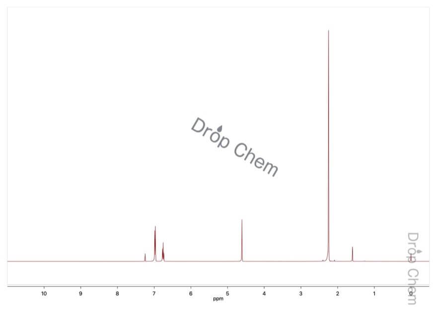 2,6-ジメチルフェノールの1HNMRスペクトル