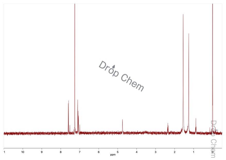 2,6-ジヒドロキシナフタレンの1HNMRスペクトル